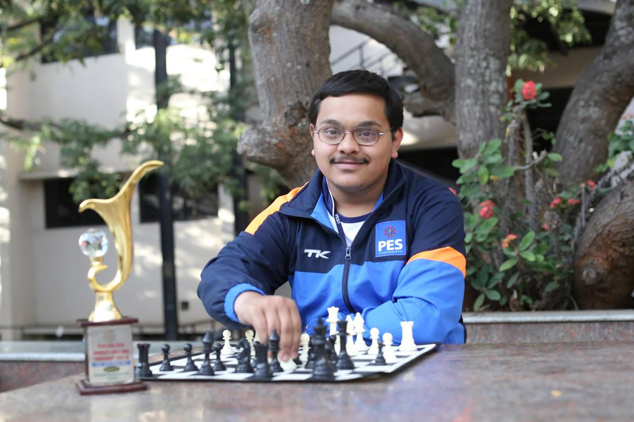 Karthik H S wins Gold in the All India Inter University Chess Competition