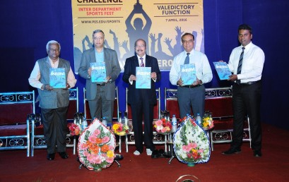 SPARDHA – PES Sports Magazine launched at THE SPORTS AWARDS 2016