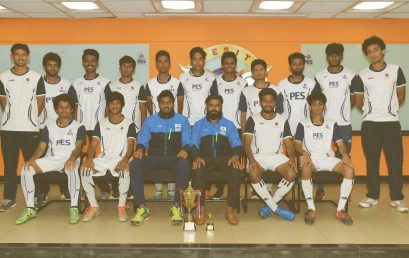 PES University Men's football team are the winners of Christ University SLCU Decennial National Level Sports Fest 2017.
