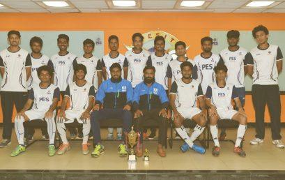 PES University Men's football team are the winners of Christ University SLCU Decennial National Level Sports Fest 2017.